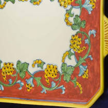 Hand-Painted Ceramics Corallo Tray