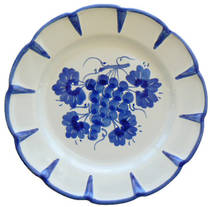 Hand-Painted Ceramics Uva Side Plate