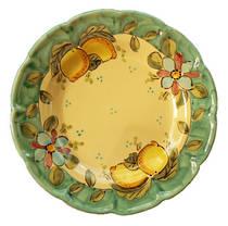 Hand-Painted Ceramics Vietri Dessert Plate Green