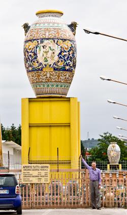 Huge Urn in Deruta, Umbria