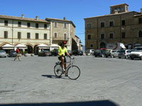 In the piazza, Montefalco