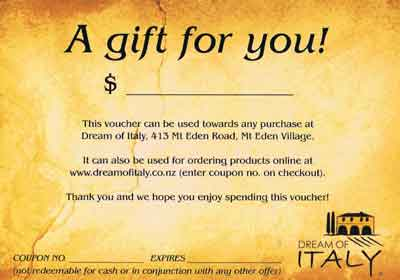 Dream of Italy Gift Vouchers