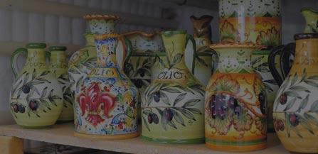 ceramic pots and ceramic christmas decorations