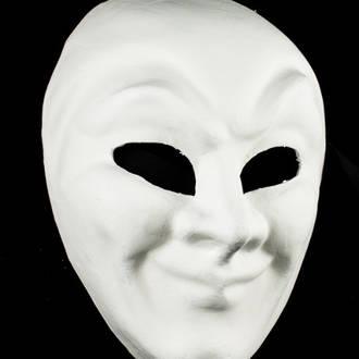 Venetian Masquerade Plain Mask Volto Joker