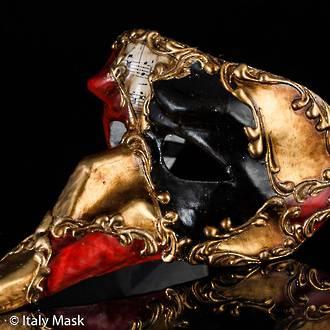 Venetian Masquerade Mask Naso Scacchi Musica