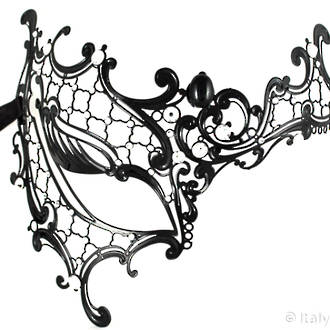 Metal Filigree Mask Occhialino Black