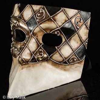 Venetian Masquerade Mask, Bauta Ibiz Black