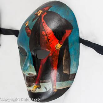 Venetian Carnival Masquerade Full Face Mask- Volto Pantelone 2