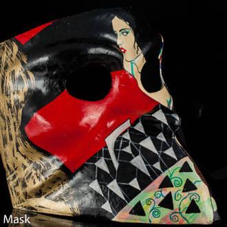 Venetian Masquerade Mask Bauta Klimt 1