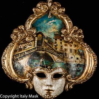 Venice Wall Art - Venetian Mask Salome 4
