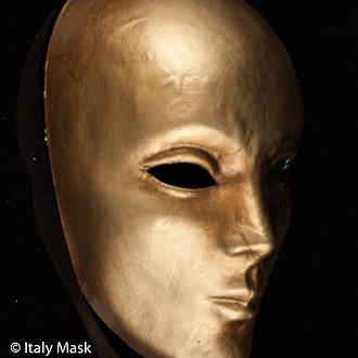 Venetian Masquerade Mask Volto Gold 2