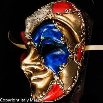 Venetian Carnival Masquerade Full Face Mask- Joker Scacchi
