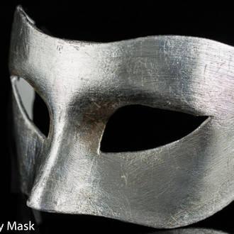 Venetian Masquerade Mask Colombina Silver
