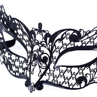 Venetian Filigree Masquerade Mask Colombina Lusso Margherita