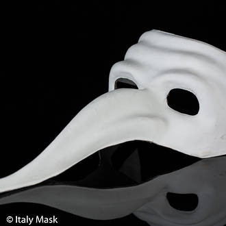 Venetian Masquerade Mask Zanni (blank)