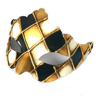 Venetian Masquerade Mask Colombina Madam Rombi Gold