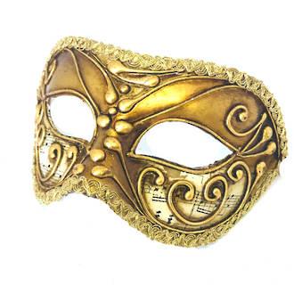 Venetian Masquerade Mask Colombina Vivian Music Gold