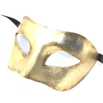 Venetian Masquerade Mask - Colombina Gold
