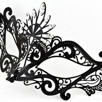 Venetian Filigree Masquerade Mask Colombina Lusso Pavone Strass