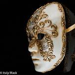 Venetian Masquerade Mask - Volto Sinfonia Gold