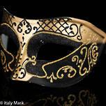 Masquerade Mask Decor Gold Black
