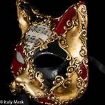 Masquerade Cat Mask Gatto Scacchi