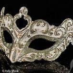 Venetian Masquerade Mask Colombina Vin Cream Gold