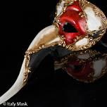 Venetian Masquerade Mask Nasone Scacchi Musica