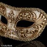 Venetian Masquerade Mask Colombina Craquele Gold