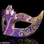 Masquerade Mask Stella Gold Purple