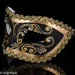 Masquerade Mask Settecento Gold Black