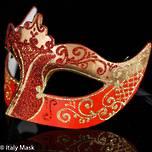 Masquerade Mask Colombina Stella Gold Red