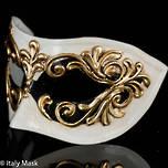 Masquerade Mask Occhi Black White Gold