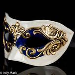 Masquerade Mask Occhi Blue Gold
