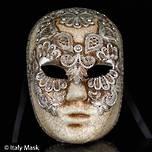 Venetian Masquerade Mask Volto Macrame Silver 2