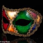 Venetian Masquerade Mask Colombina Scacchi Arcobaleno