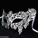 Filigree Masquerade Mask  Splendida Silver