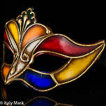 Venetian Masquerade Mask Colombina Madam Arlecchino