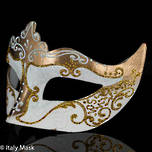 Masquerade Mask Stella white-gold 1