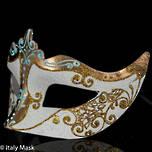 Masquerade Mask  Stella white-gold 2