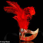 Masquerade Mask Ciuffo Star Red Gold