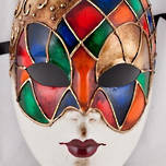 Venetian Carnival Masquerade Full Face Mask- Volto Ibiz