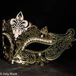 Filigree Masquerade Mask Diana Gold