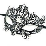 Venetian Filigree Masquerade Mask Colombina Lusso Cuore Strass