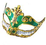 Venetian Masquerade Mask Colombina Madam Music Green
