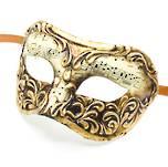 Venetian Masquerade Mask Colombina Stucco Musica Gold