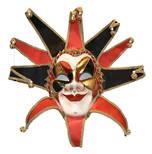 Venetian Masquerade Mask Joker Reale Red Black 2
