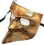 Venetian Masquerade Mask Bauta - gold