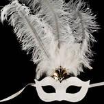Venetian Feather Masquerade Mask Colombina Ciuffo Aladdin 6