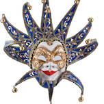 Venetian Masquerade Mask Joker Reale Lux Blue